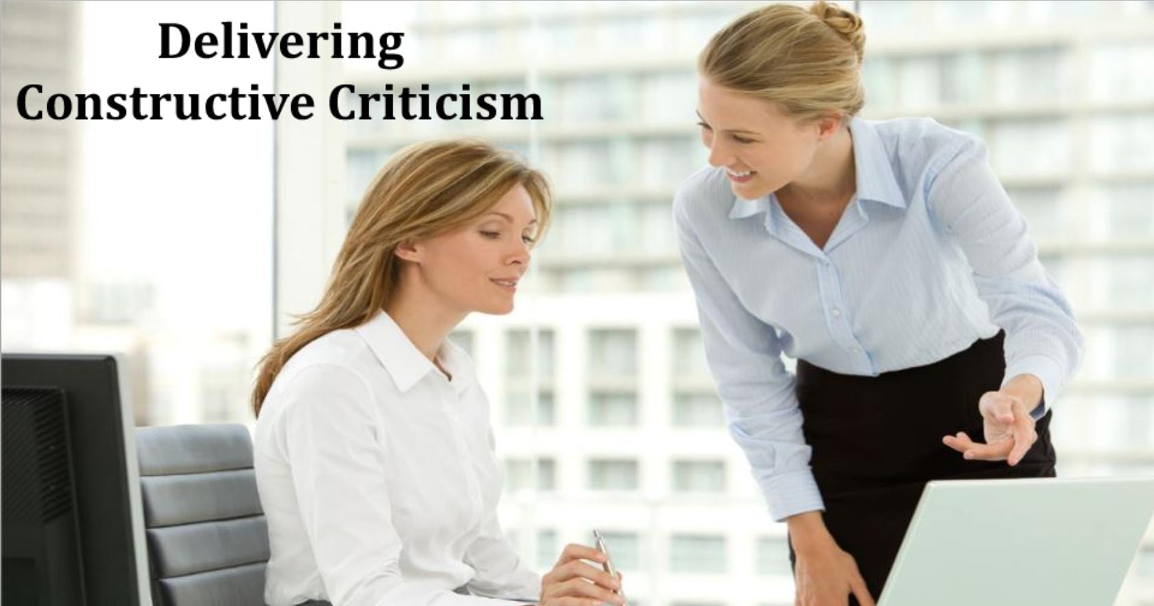 Delivering Constructive Criticism
