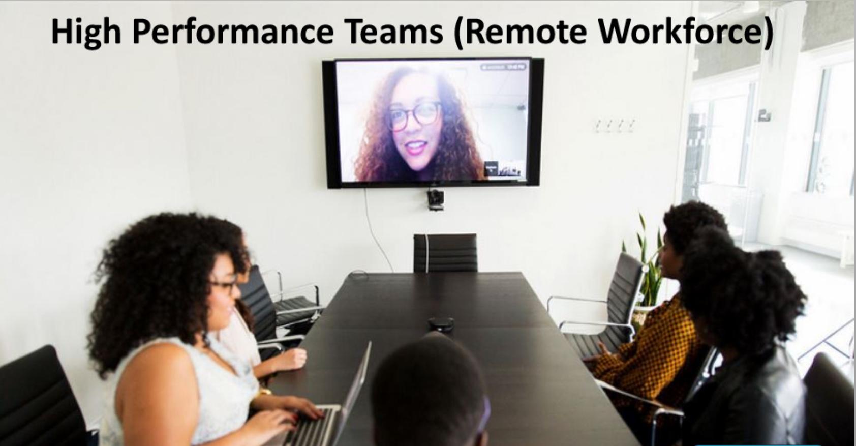 Building High Performance Teams (Externally)