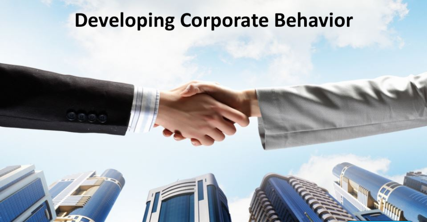 Developing Corporate Behaviour